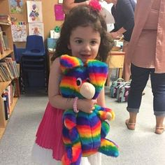 This special little girl is bringing Rainbow Rabbit to Show and Tell at her school!