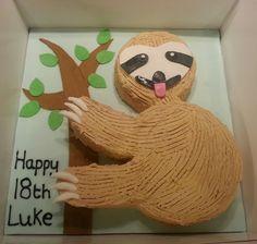 #Sloth #Birthday #Cake