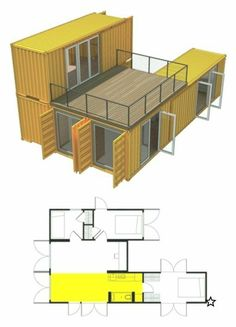 How to Build Amazing Shipping Container Homes Amazing build Container homesHow to Build Amazing Shipping Container Homes Amazing build Container homes Shipping Cargo Container Homes, Shipping Container Home Designs, Building A Container Home, Shipping Containers, Shipping Container Buildings, Container Home Plans, Shipping Container Restaurant, Shipping Container Cabin, Storage Container Homes