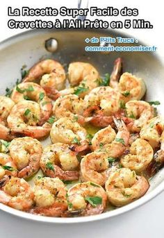 Super Easy Recipe for Garlic Shrimp Ready in 5 Min. - the quick and express recipe for garlic shrimp - Shrimp Dishes, Shrimp Recipes, Fish Recipes, Great Recipes, Favorite Recipes, Aloo Recipes, Shrimp Pasta, Egg Recipes, Recipes Dinner