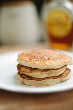 Honey & Brie: Guilt Free Fluffy Gluten Free Pancakes i made it this morn with coconut yogurt: so good!!