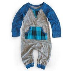 Miki Miette Infant Boys Grey Frontier Playsuit
