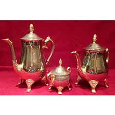 24 Carat GOLDPLATED ELWECO TEA SET