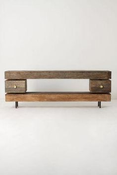 rustic wooden console