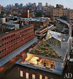 Yowza! Diane von Furstenberg's penthouse in Manhattan. (Photo by Architectural Digest)