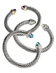 David Yurman cable bracelets