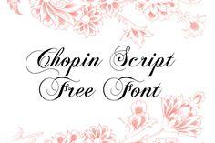 DLOLLEYS HELP: Chopin Script Free Font