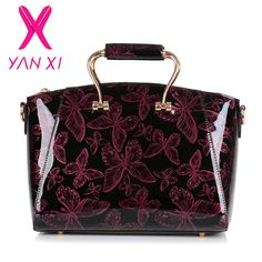 $30.42 (Buy here: https://alitems.com/g/1e8d114494ebda23ff8b16525dc3e8/?i=5&ulp=https%3A%2F%2Fwww.aliexpress.com%2Fitem%2F2015-New-Genuine-classical-Patent-leather-luxury-Handbags-Women-Casual-Tote-bag-Ladies-Printing-Shoulder-Messenger%2F32456911754.html ) YANXI 2016 New Patent leather Butterfly pattern luxury Handbags Women Casual Tote bag Ladies Printing Shoulder Messenger Bags for just $30.42