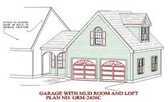 Garage with breezeway and loft. Garage House, Garage Studio, Garage Shop, Car Garage, Benjamin Moore, Girls Bedroom, Master Bedroom, Garage Floor Paint, Garage Addition