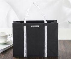 Black craft paper bag, special paper bag, order made paper bag