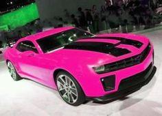Hot pink & Black car