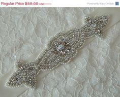 ON SALE Bridal Sash Wedding Sash Bridal Sash by TheRitzyBridalSash, $53.10