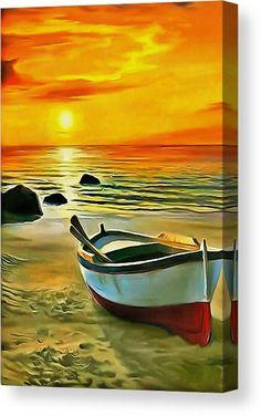 Landscape Pictures, Landscape Art, Landscape Paintings, Sailboat Painting, Boat Art, Seascape Paintings, Fine Art America, Canvas Art, Canvas Prints
