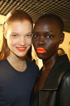 make up trends 2014 | ... Trends from Fashion Week Spring 2014 - Orange Lipsticks Spring 2014