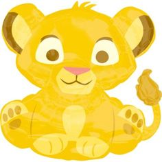 Foil The Lion King Baby Simba Balloon 25in - Party City