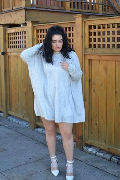 nadia aboulhosn: Fuzzy Oversized Sweater