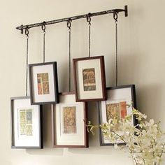 Still like Pottery Barn's better, but this is an option.  Improvise DIY - picture railing