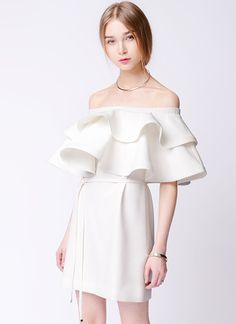 eVintageLife - OP28012015C White off shoulder dress, $120.00 (http://evinlife.com/op28012015c-white-off-shoulder-dress/)