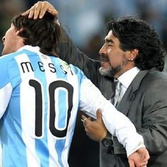 Messi and Maradona Good Soccer Players, Football Players, Cr7 Vs Messi, Diego Armando, Lucky Number, Soccer World, Sports Stars, World Cup, Athlete