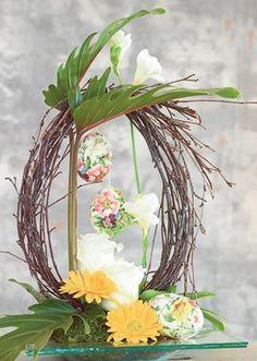 Påske | Fin dekoration med grene og påskeæg