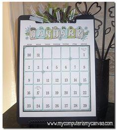 Printable Clipboard Calendar... so cute!!