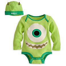 Mike Wazowski Disney Cuddly Bodysuit Set for Baby - Personalizable.   @Catherine Gordon Underwood  can jaxon please be this for Halloween!