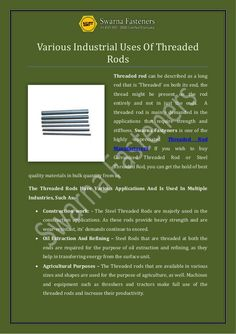 20 Best Threaded Rod Manufacturers images in 2018 | Budget, Building