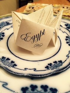 This special paper chatterbox, sometimes called a cootie catcher, is used to entertain and educate at the Passover Seder meal. These paper novelties can be found on Etsy at the Jewish Holiday Shop.