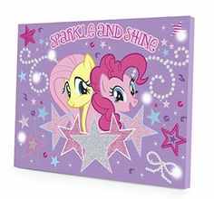 $12 My-Little-Pony-Canvas-LED-Wall-Art-Kids-Toy-Fun-Games-Childrens-Play-Toys