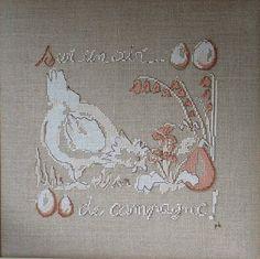 aria di campagna uova punto croce
