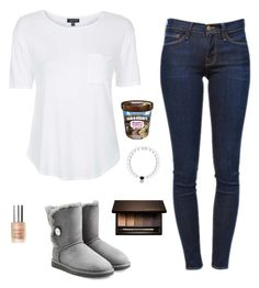 """Cute"" by crystalsnowflake ❤ liked on Polyvore featuring Topshop, Frame Denim, UGG Australia, Everest, Clarins and By Terry"