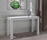 Détails Console extensible PRATIKA blanche en bois 120 x 55 cm.