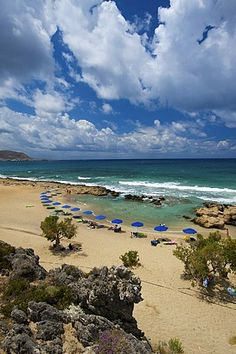 Falasarna beach, west coast, Crete, Greece, Europe