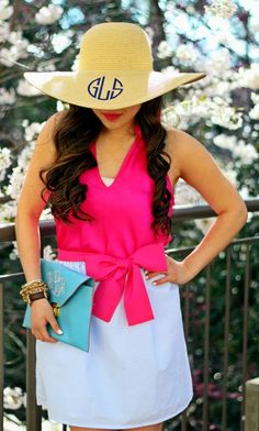 Monogrammed Floppy Hats, Free Shipping!