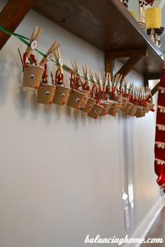 Advent Calendar. A DIY project with paper cups.