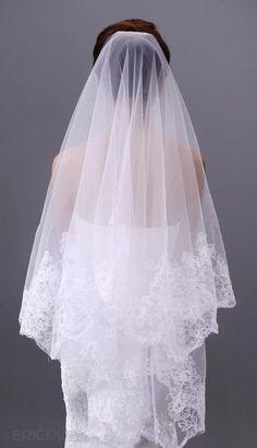 Luxury Zuhair Murad Wedding Veils Finger Length Veils Lace Applique 1 Layer Applique 2015 Cheap Bridal Veil 2016 Arabic Mantilla Black Birdcage Veil Bridal Veil Plant From Everbridal1989, $16.09| Dhgate.Com