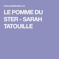 LE POMME DU STER - SARAH TATOUILLE