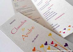 modelo 26: menu em papel reciclado - Galeria de Convites