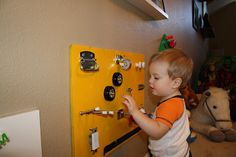 Sensory wall, playroom ideas