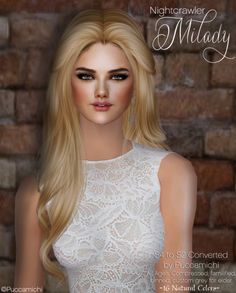 Nightcrawler 'Milady'Sims 4 to sims 2 converted another hi-poly hair (around - All Ages - Compressed - Familified - Binned - Custom Grey for Elder - 16 Natural Colors (Pooklet & My. Sims 2, The Sims, Gray Color, Female, Natural Colors, Hair, Grey, Style, Posts
