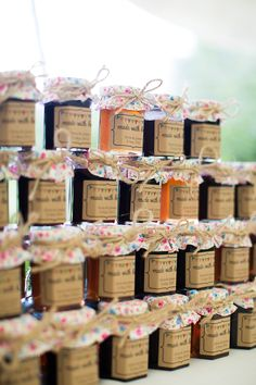 jam wedding favors / Katherine Ashdown Photography