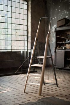 """adayinthelandofnobody: """" """"TENZING - The ladder as part of the living environment"""" by Fritz Specht """" Wood Furniture, Furniture Design, Id Design, Design Trends, Yanko Design, Living Environment, Minimalist Design, Living Spaces, Living Area"""