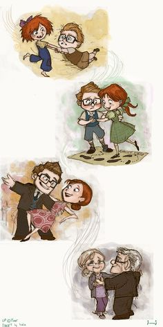 """Carl & Ellie...The movie """"UP"""". I love this for so many reasons!"""