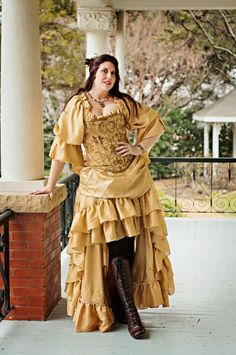 Belle Inspired Steampunk Victorian Costume by SilverLeafCostumes, without the brocade corset