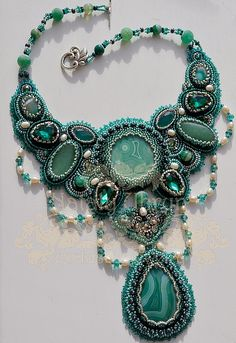 Beautiful embroidered jewelry by Nataly Uhrin (part 1) | Beads Magic
