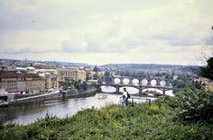 1992 Blick über die Moldau bei Prag