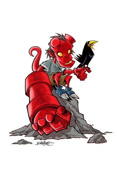 #Hellboy #Fan #Art. (HELLBABY) By: RM73.