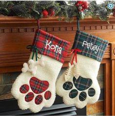 Pet Christmas Stocking | Dog Christmas Stocking | Cat Christmas Stocking | by MickieandMum on Etsy https://www.etsy.com/listing/547530299/pet-christmas-stocking-dog-christmas