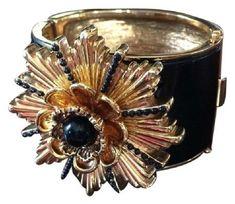 4bb12dfd1e069 ROBERT LEE MORRIS Cuff Bracelet Black Enamel Starburst Ltd.Edition MMA Star  Jewelry
