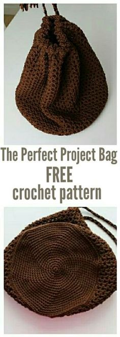 The Perfect Project Bag FREE crochet pattern By thecrochetblog